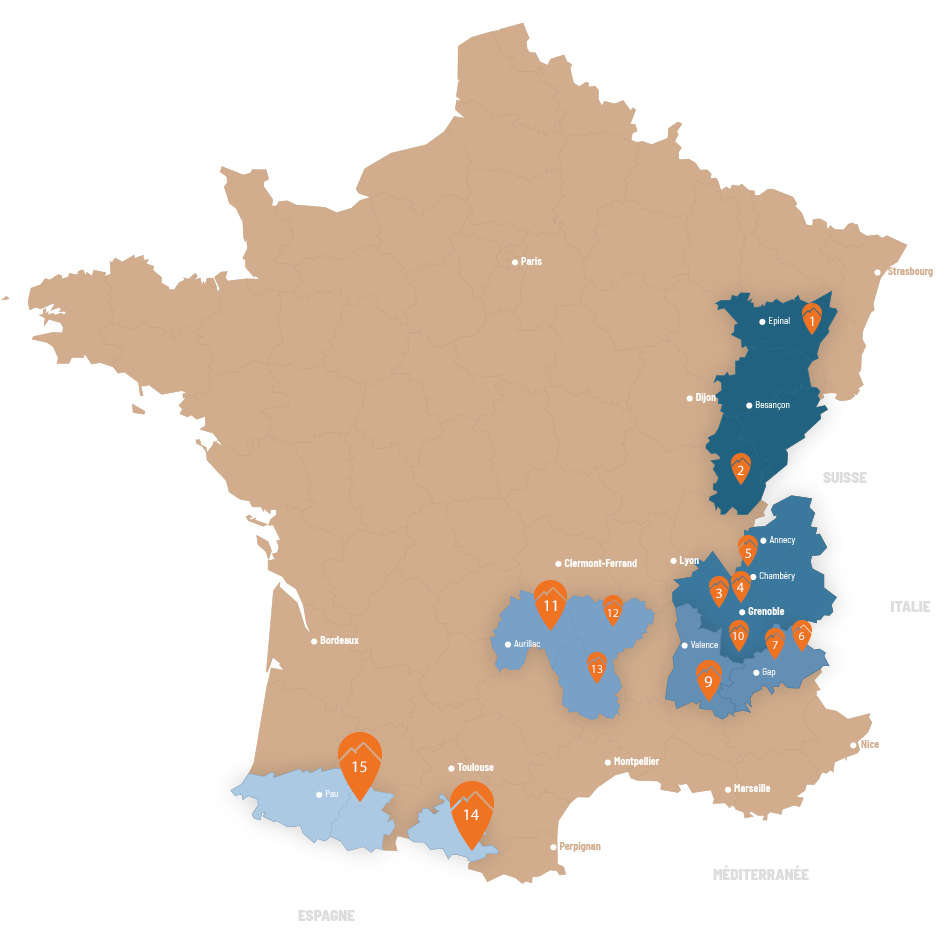 carte france destination HR